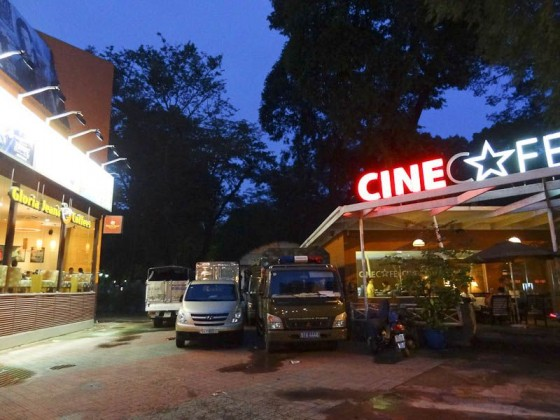 Two Side-By-Side Cafes At A Movie Theater