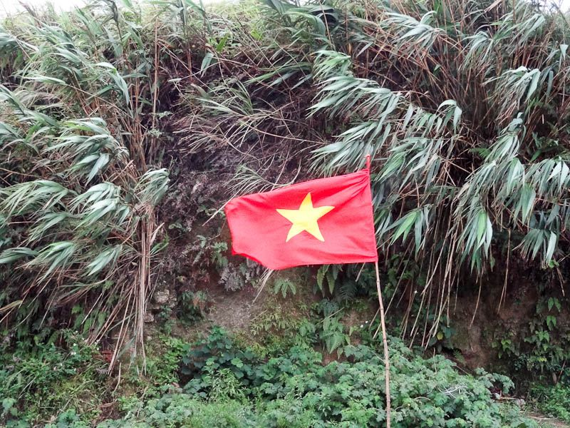 Vietnamese Flag At The Border