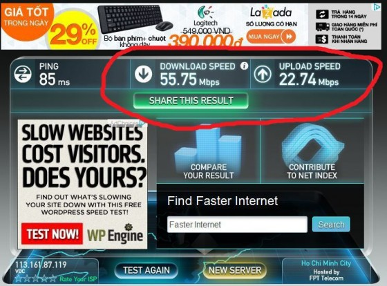 Crazy Fast Internet Speeds At A Random Saigon Cafe