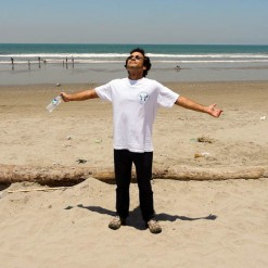 Extending My Wings On The Beach In Ecuador