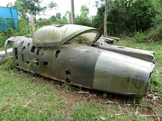 Fighter Jet Wreckage