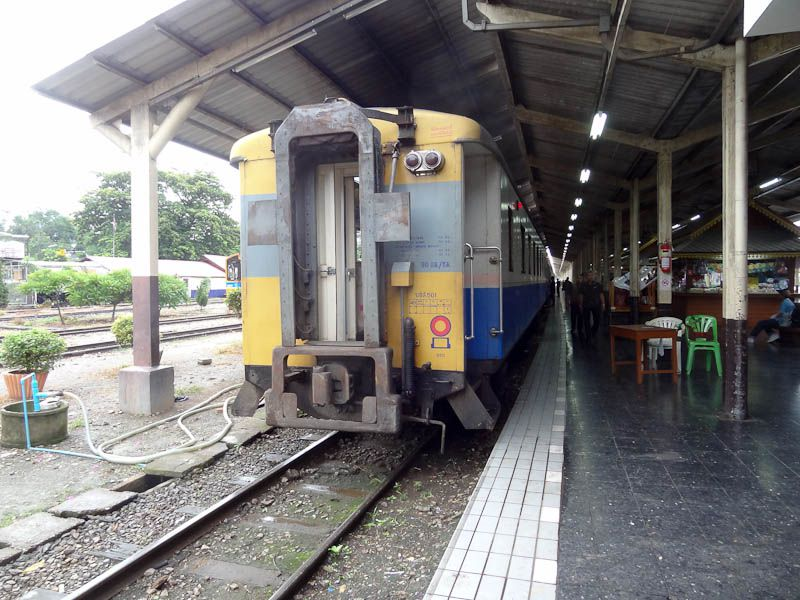 The Train Arriving At Chiang Mai Station