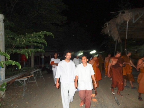 Walking There With The Monks