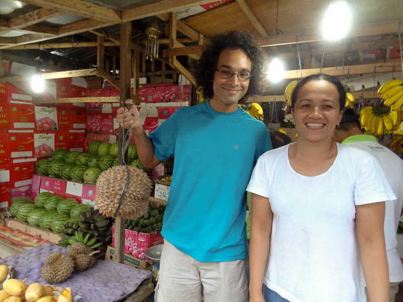 Buying Durian From A Local Market
