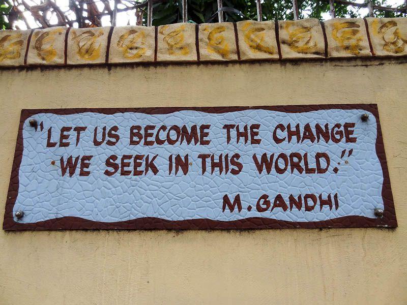 Gandhi quote in the philippines