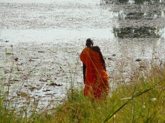 Monk By The Lake