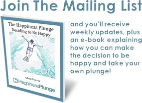mailing list message and Happiness Plunge ebook