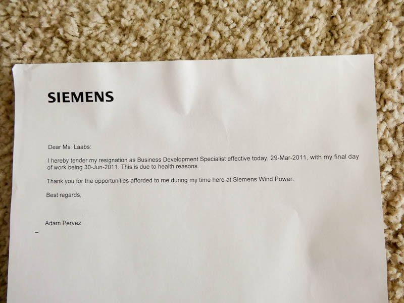 Resignation Letter From Siemens  Funny Resignation Letters