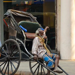 Barefoot Rickshaw - Taken 4-Feb-2013 - Calcutta, India
