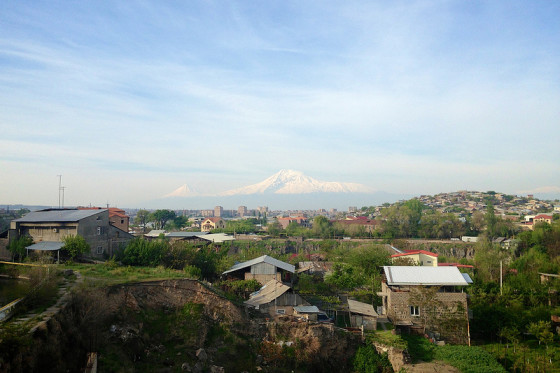 Mt Ararat From Yerevan