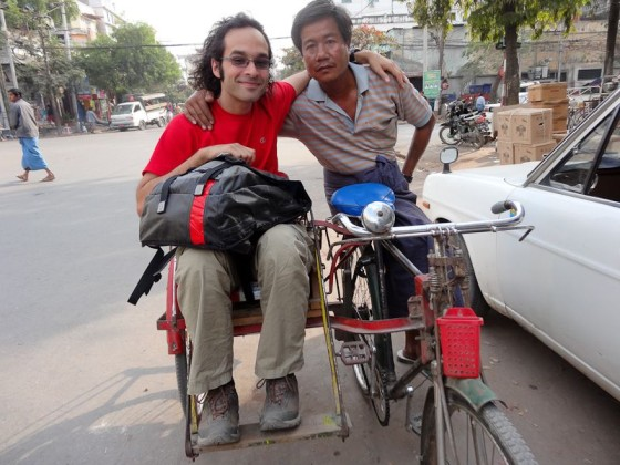On A Bike Rickshaw