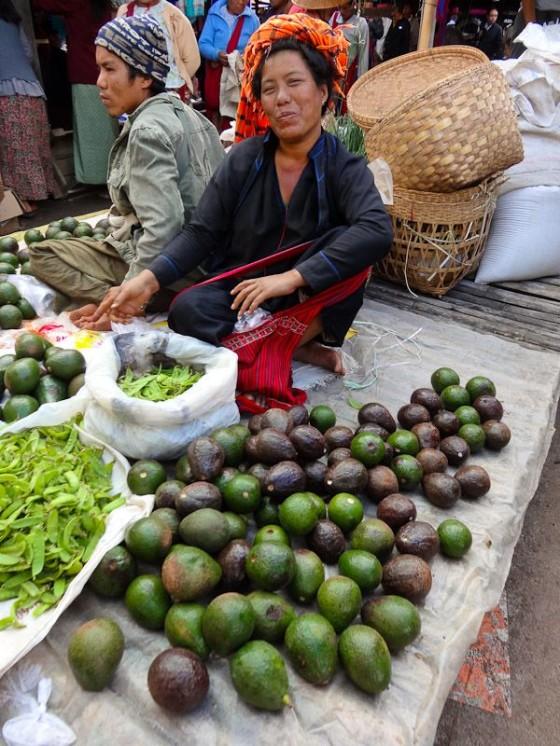 Burmese Woman In A Market
