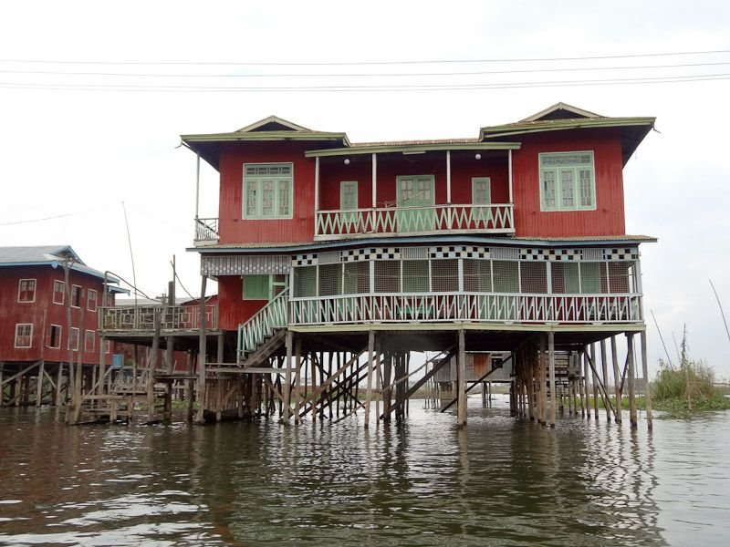 House on stilts happiness plunge