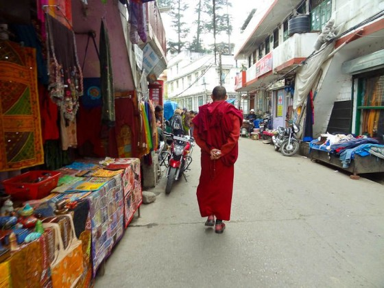 Monk Walking Down The Street