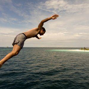 Taking The Plunge - Taken 13-Dec-2011 - The Caribbean Sea