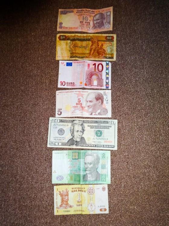 Money Sizes