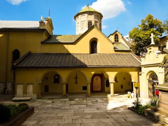 650 Year Old Armenian Cathedral In Lviv, Ukraine