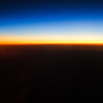 Photo Friday - Golden Horizon From 40,000 Feet - Atlantic Ocean