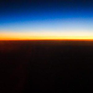 Golden Horizon From 40,000 Feet - Taken 27-Jan-2014 - Atlantic Ocean