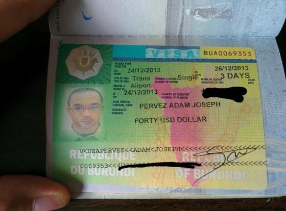 My Colorful Burundi Visa