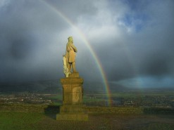 Rainbow Over King Robert The Bruce - Taken 4-Jan-2005 - Stirling, Scotland