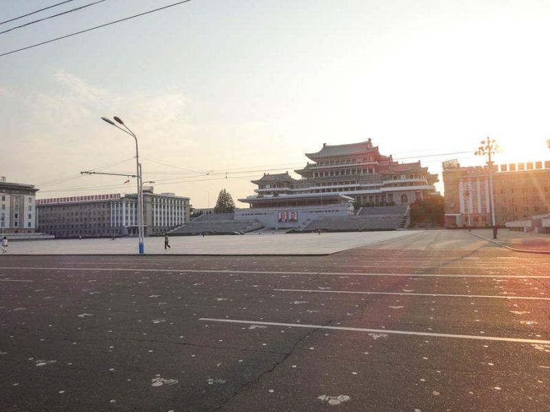 Kim Il Sung Square Parade Markings