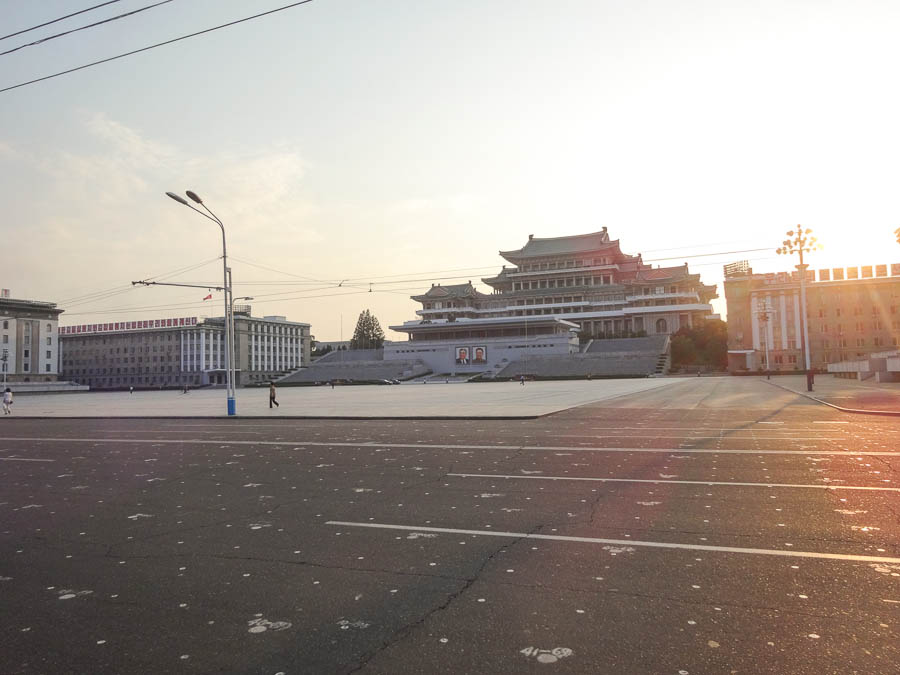 Kim Il Sung Square Parade Markings