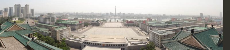 Kim Il Sung Square From The Grand People's Study House