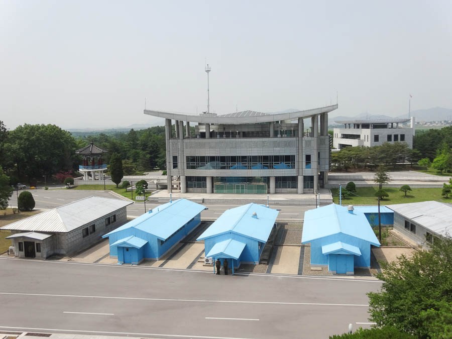 DMZ - Blue Buildings Are UN Buildings For Negotiations