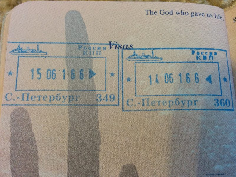 Russian Entry And Exit Stamps