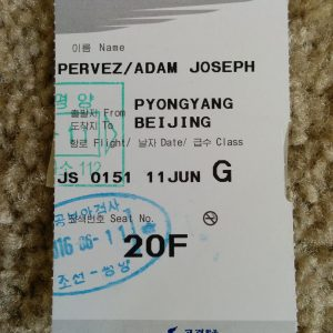 Boarding Pass To Leave North Korea
