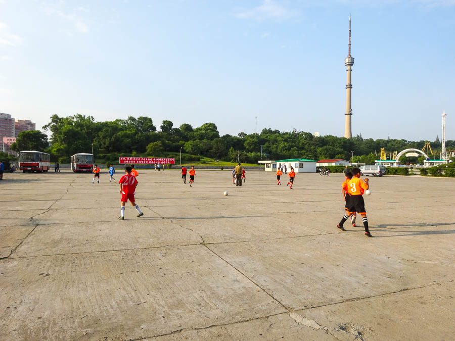 Kids Playing Soccer In North Korea