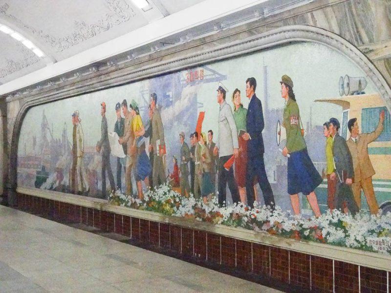 Propaganda In The Pyongyang Metro