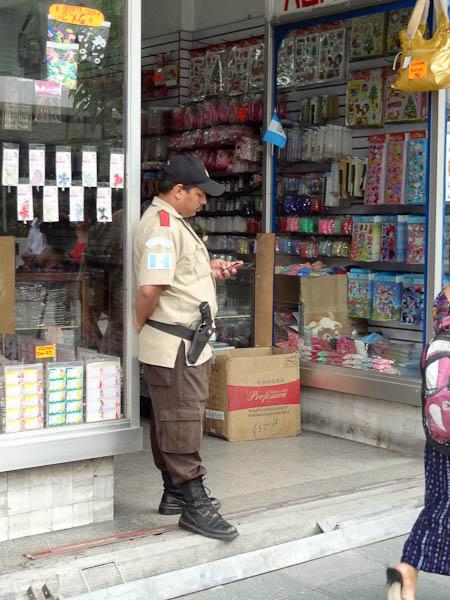 Security Guard In Guatemala