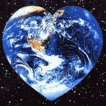 Earth love heart