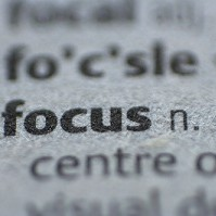 focus on page with rest blurry