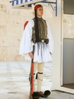 Greek Parliamentary Soldier - Taken January 1, 2005 in Athens, Greece