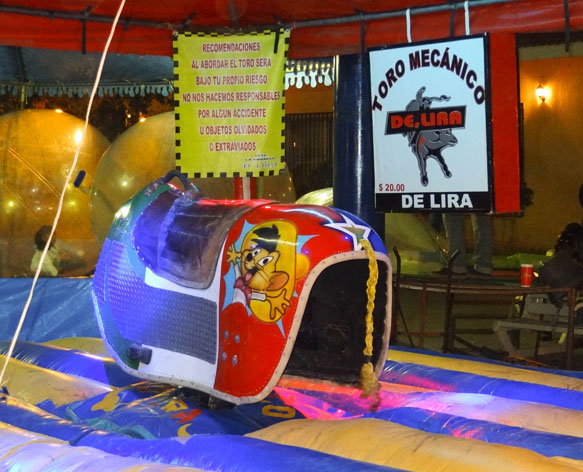 mechanical bull with speedy gonzales in mexico