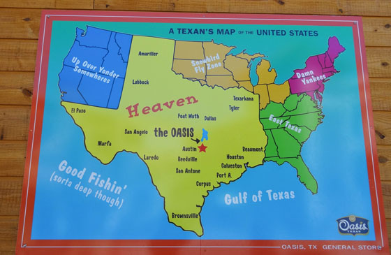 A texans map of the united states of america