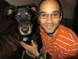 Adam With black labrador