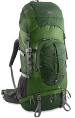 Green REI backpack small