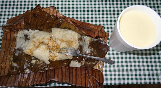 Tamale Oaxaca with Atole