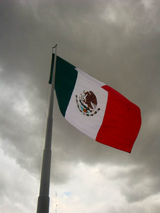 Mexico City flag in Zocolo