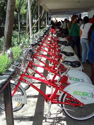 Rentable bikes in mexico city