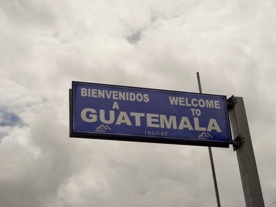 Welcome To Guatemala Sign