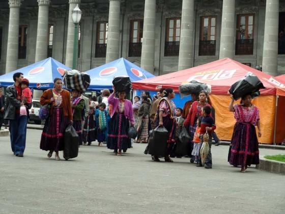 Indigenous Guatemalans In Xela
