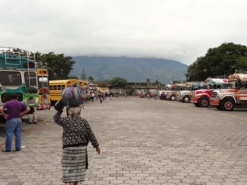 View Of The Volcano From Bus Station