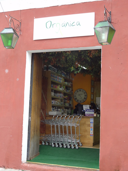Organic Food Store in Antigua, Guatemala