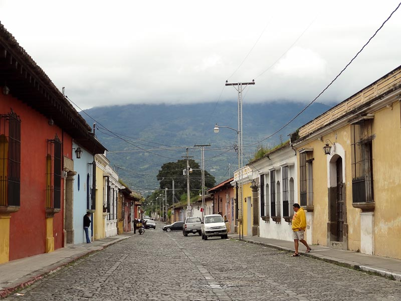 View Of The Volcano From A Street