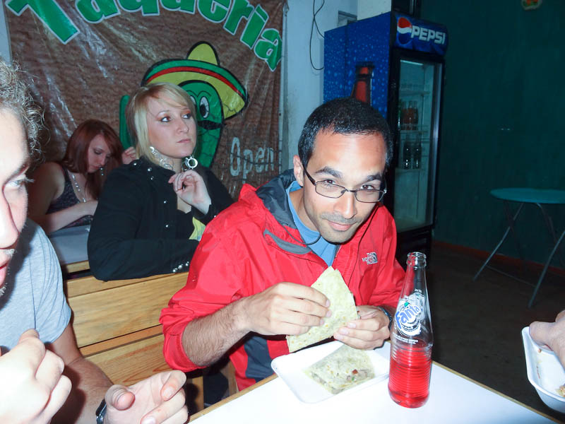 Me Eating The Cow Tongue Taco